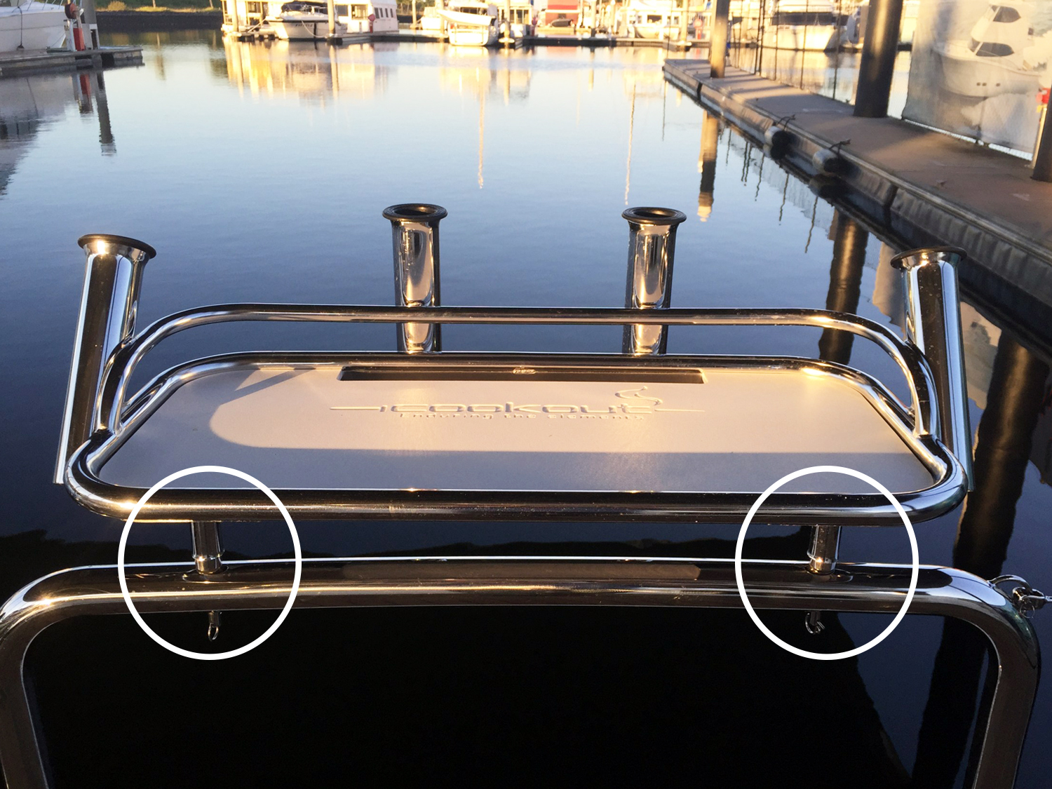 Removable Pins for Duckboard Rails for Bait Board