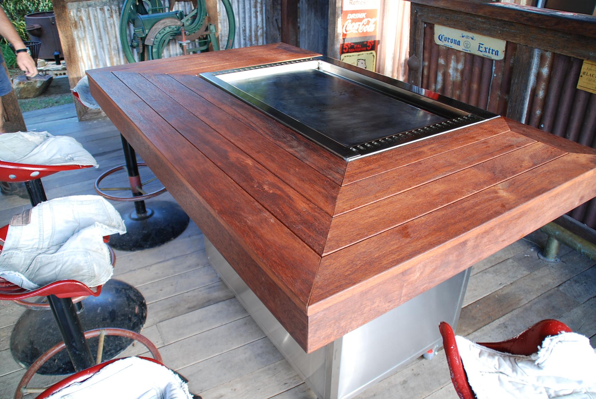 Stainless steel Traditional Teppanyaki BBQ