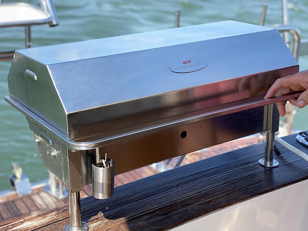 Australian made 316 marine grade stainless steel gas boat BBQ
