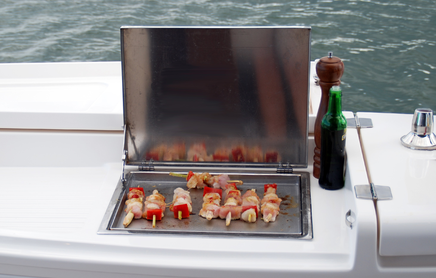 Stainless flush mount drop in boat bbq Australia