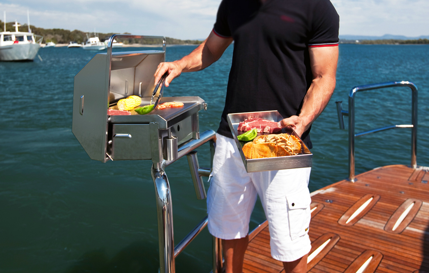 compact 316 marine grade stainless steel barbecue Australia