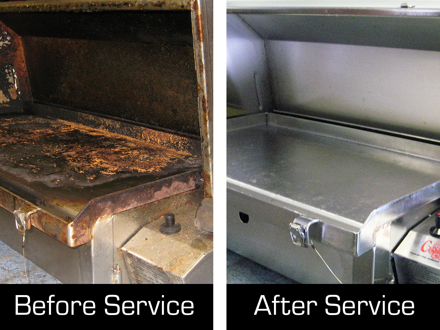 Cookout BBQ before and after barbecue service